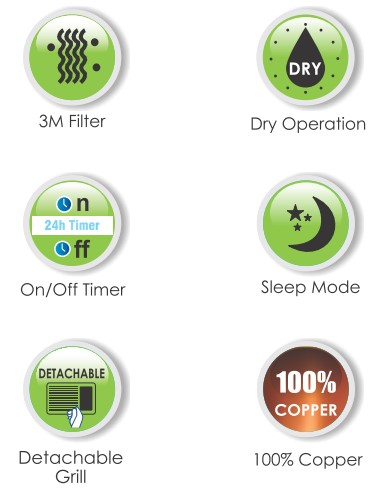 features of air conditioner